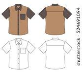 short sleeve man's buttoned... | Shutterstock .eps vector #524691094
