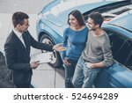 buying their first car together.... | Shutterstock . vector #524694289