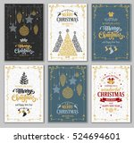 merry christmas and happy new... | Shutterstock .eps vector #524694601