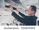 business travel. confident... | Shutterstock . vector #524695345