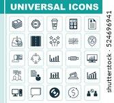 set of 25 universal editable...   Shutterstock .eps vector #524696941