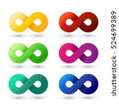 set of modern colorful infinity ... | Shutterstock .eps vector #524699389