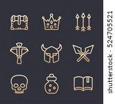 game line icons set 2  rpg ... | Shutterstock .eps vector #524705521