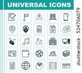 set of 25 universal editable... | Shutterstock .eps vector #524706079