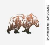abstract bear and forest | Shutterstock .eps vector #524708287