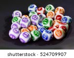 colourful lottery balls in a... | Shutterstock . vector #524709907