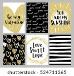 set of greeting cards for... | Shutterstock .eps vector #524711365