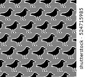 seamless pattern with a bird in ... | Shutterstock .eps vector #524715985