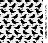 seamless pattern with a bird in ... | Shutterstock .eps vector #524715991