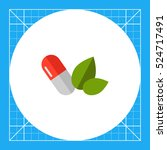 capsule and green leaves   Shutterstock .eps vector #524717491