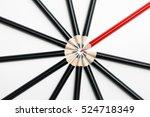 abstract team of black pencils... | Shutterstock . vector #524718349