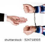 lawyer gives key of the... | Shutterstock . vector #524718505
