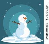 snowman vector flat helper... | Shutterstock .eps vector #524719234
