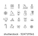 set of minimalistic christmas... | Shutterstock .eps vector #524719561