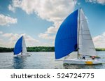 sailboat. yachts on the... | Shutterstock . vector #524724775