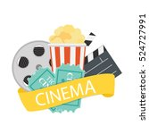 abstract cinema flat background ... | Shutterstock .eps vector #524727991