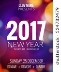 new year party design banner.... | Shutterstock .eps vector #524732479