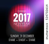 new year party design banner.... | Shutterstock .eps vector #524732614