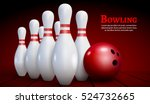 bowling realistic illustration... | Shutterstock .eps vector #524732665