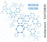 molecular structure or... | Shutterstock .eps vector #524733835