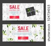 horizontal christmas sale... | Shutterstock .eps vector #524734015