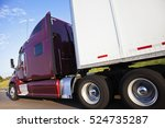 semi truck in motion   seen on... | Shutterstock . vector #524735287