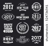 2017   happy new year  ... | Shutterstock .eps vector #524736541