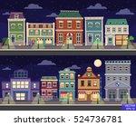 vector cartoon retro... | Shutterstock .eps vector #524736781