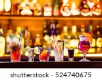 set of cocktails at the bar | Shutterstock . vector #524740675