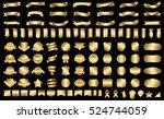 ribbon banner label gold vector ... | Shutterstock .eps vector #524744059