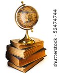 Antique Globe On Old Books...