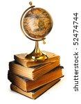 Antique Globe On Old Books...