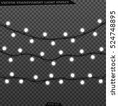 garlands  realistic glowing...   Shutterstock .eps vector #524748895