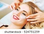 cosmetologist applaying anti... | Shutterstock . vector #524751259