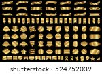 label ribbon banner gold vector ... | Shutterstock .eps vector #524752039