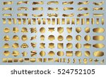 label ribbon banner gold vector ... | Shutterstock .eps vector #524752105