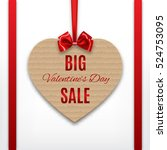 big valentine's sale tag.... | Shutterstock .eps vector #524753095