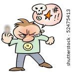 an angry cartoon character ... | Shutterstock .eps vector #52475413