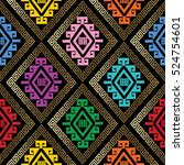 modern abstract geometric... | Shutterstock .eps vector #524754601