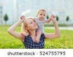 a small child  a little girl... | Shutterstock . vector #524755795