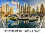 panoramic view of dubai marina... | Shutterstock . vector #524757604