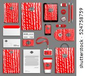 red bright corporate identity... | Shutterstock .eps vector #524758759