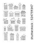 set of doodle houses | Shutterstock .eps vector #524759347