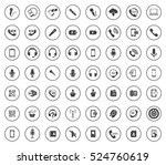 phone icons | Shutterstock .eps vector #524760619