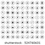 food icons | Shutterstock .eps vector #524760631