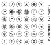 map icons | Shutterstock .eps vector #524760949