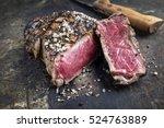 Barbecue Prime Rib Steak On Ol...