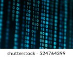 digital binary data on computer ... | Shutterstock . vector #524764399