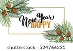 hand sketched logotype  badge... | Shutterstock .eps vector #524766235