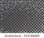falling snow on transparent... | Shutterstock .eps vector #524768689